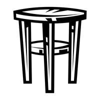 Tabouret Chaise Seating Furniture Illustration vecteur