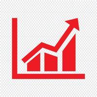 Diagramme simple graphique icône illustration vectorielle vecteur