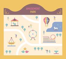 carte du parc d'attractions
