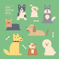 race de chiens. vecteur