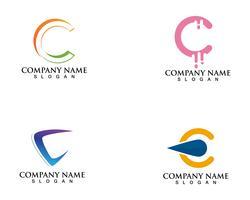 Modèle de vecteur logo et symboles C