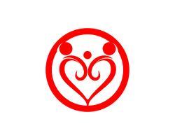 Adoption community care Icône de vecteur de modèle de logo