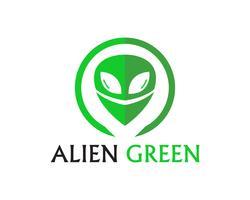 Alien face icône logo vectoriel et symboles app modèle