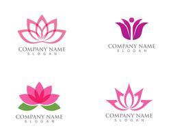 Signe de fleur de lotus pour le bien-être, le spa et le yoga. Illustration vectorielle