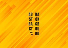 Lignes géométriques abstraites rayures diagonales jaunes et orange, motif de fond de style moderne. vecteur