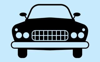 Silhouette de voiture rétro vecteur
