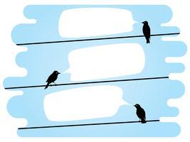 oiseaux bavardant sur des fils vecteur