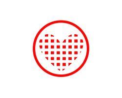 Amour icônes rouges Logo et symboles Modèle de vecteur