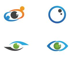 Logo de soins oculaires et application de symboles vectoriels