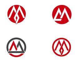 Icône de lettre M Logo Business Template Vector, vecteur