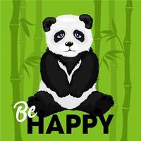 Illustration du panda triste vecteur