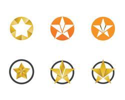 Logo étoile modèle vector icon design illustration