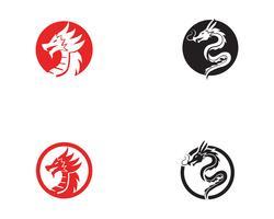 Vecteur d'icône logo Dragon