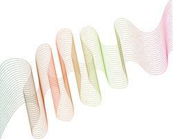 vague ligne graphique illustration vectorielle vecteur