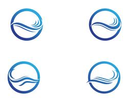 Vague d'eau Logo Template vector illustration design