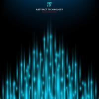 Mouvement lumineux de technologie laser technologie abstraite avec fond de rayons lumineux. vecteur