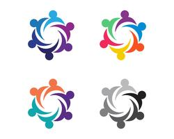 Icône de communauté, réseau et réseau social vecteur