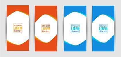 Conception créative de bannière abstraite vecteur