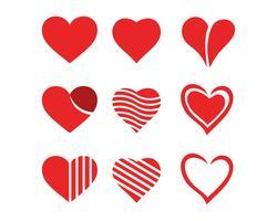 Modèle de vecteur de l'amour logo et symboles