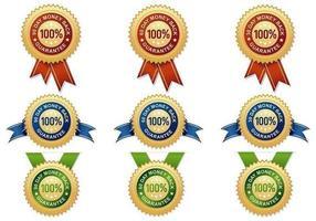 Garantie de remboursement Pack de badges vectoriels