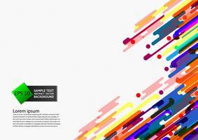 Illustration vectorielle multi couleur abstrait géométrique
