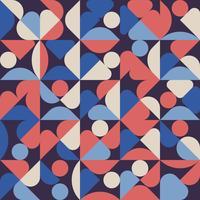 Affiche oeuvre d'art abstrait motif géométrique minimal avec fond de forme et figure simple