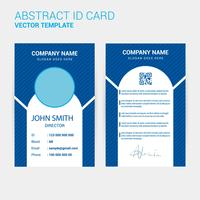 Modèle de conception de carte d'identité vecteur