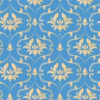 Modèle sans couture royal victorien. Motif royal damassé vecteur