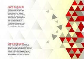 Vecteur moderne eps10 design abstrait géométrique fond rouge et blanc avec espace de copie