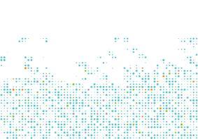 Abstrait cercle géométrique vecteur multicolore. Modèle de texture en pointillé en demi-teinte