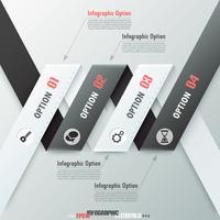 Bannière d'options infographie moderne. vecteur