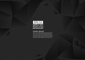 Design moderne abstrait couleur polygone noir et jaune, illustration vectorielle avec espace de copie