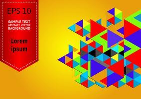 Fond de vecteur abstrait géométrique multicolore avec espace de copie