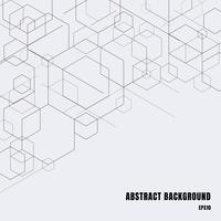 Lignes abstraites boîtes noires sur fond gris. Forme géométrique de modèles numériques de technologie moderne. Structure à géométrie hexagonale.