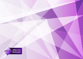 Couleur violet et blanche géométrique abstraite, conception moderne avec espace copie, illustration vectorielle eps10