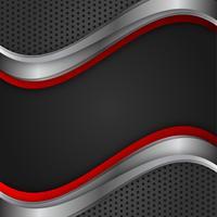 Couleur rouge et noir abstrait vecteur géométrique avec espace de copie