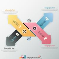 Bannière d'options d'infographie moderne vecteur