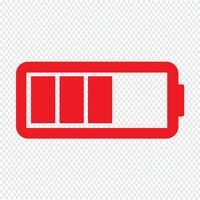 Icône de la batterie Illustration vectorielle vecteur
