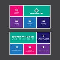 Carte de visite colorée vecteur