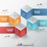 Bannière d'options d'infographie moderne. vecteur