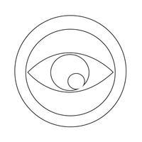 Signe des yeux icône vecteur
