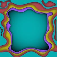 Multi couleur abstrait avec du papier découpé des formes