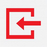 Connexion icône illustration vectorielle vecteur