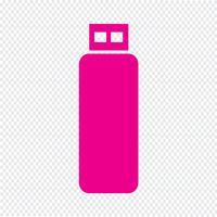 illustration vectorielle d'icône de lecteur flash USB