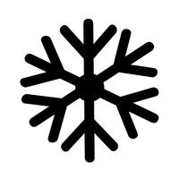 Flocon de neige icône illustration vectorielle vecteur