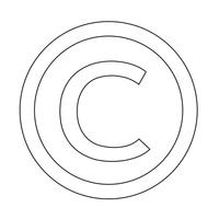 icône de symbole de copyright illustration vectorielle