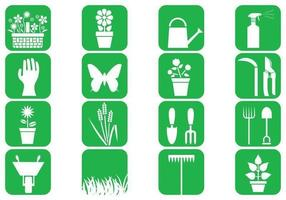 Pack d'icônes vectorielles de jardinage vecteur