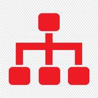 Illustration vectorielle d'arborescence icône vecteur