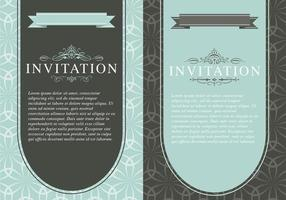 Ensemble de modèles de vecteur d'invitation vintage
