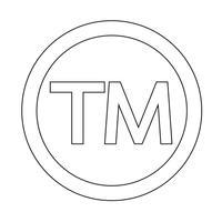 Symbole de marque icône Illustration vectorielle